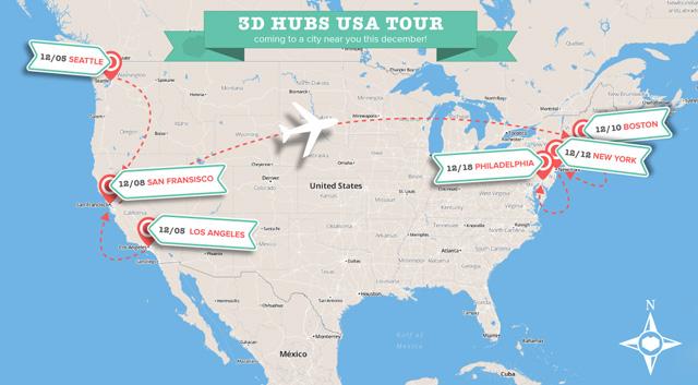 3D Hubs USA Tour