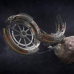 3D Printing mining in space