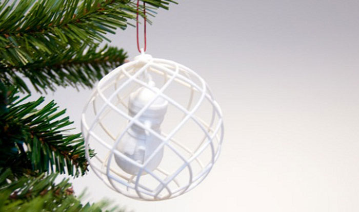 Snowman 3D Printed Ornament