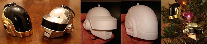 Daft Punk Helmet 3D Printed