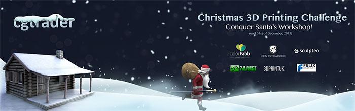 CGtrader Christmas 3D Printing Challenge