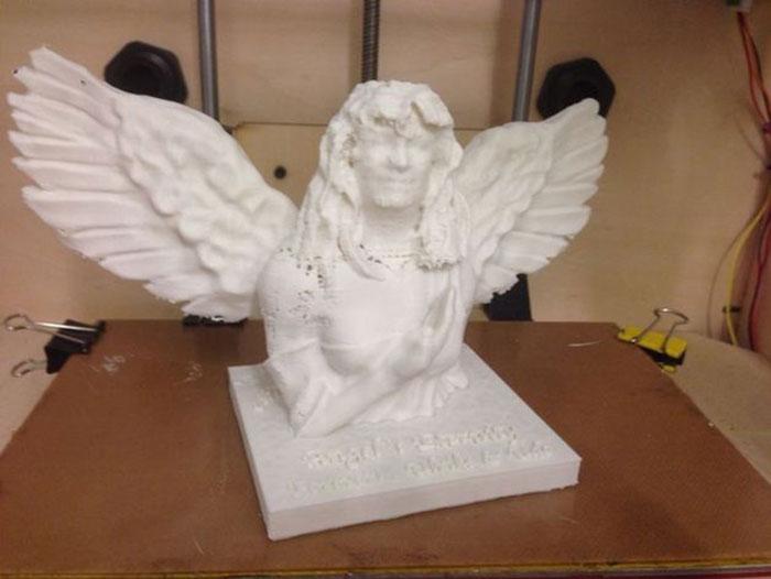 Wife as Angel 3D printe Skanect