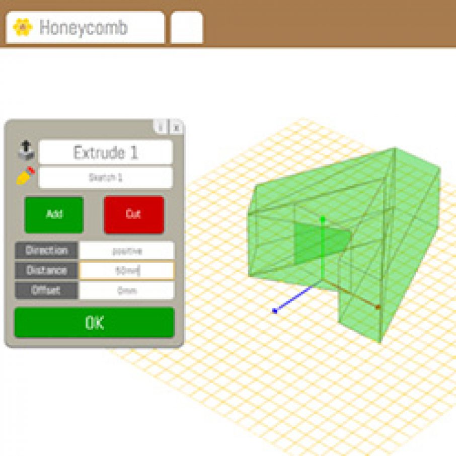 Honeycomb free web based parametric cad program 3d Web cad software