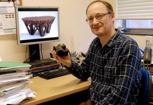 Dr. Tim Evans 3D Printing Fractal Table