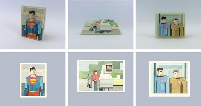 8 Bits 3 Dimensions 3D Printed