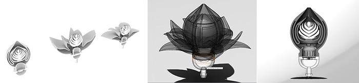 cad blossom 3D flower 3D Printing
