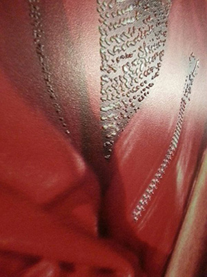 close up Apprintus 3D Textured Painting