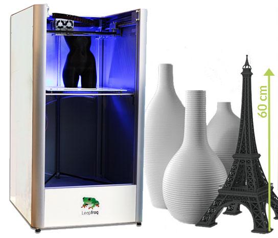 3D Printing Creatr XL samples 60cm Leapfrog