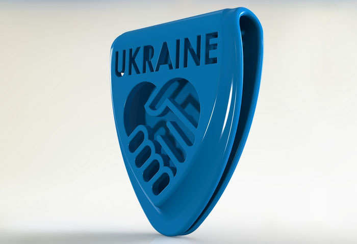 3D Printing ukraine badge support 3d model