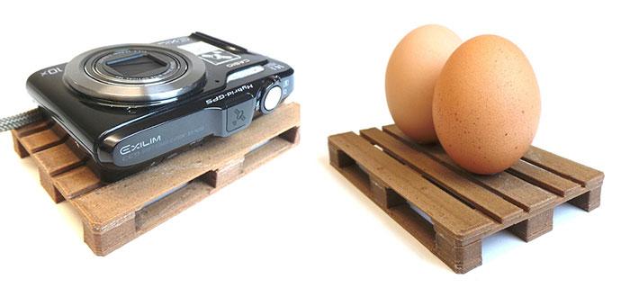 3D printed EUR pallet scale model