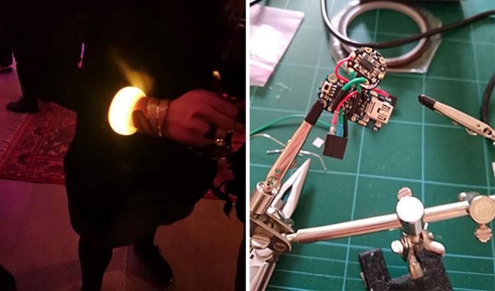 3D printed led bracelet Soldering