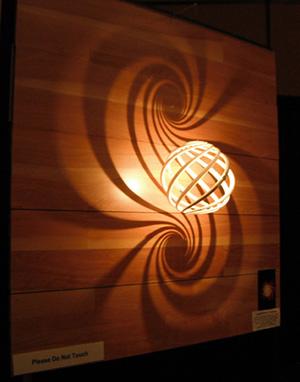 Loxodrome Sconce Paul Mylander 3D Printing Math Art