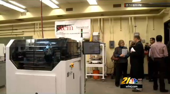 Youngstown State University ExOne 3D Printer