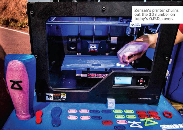 Zensah 3D Printer Demonstration Outdoor Retailer