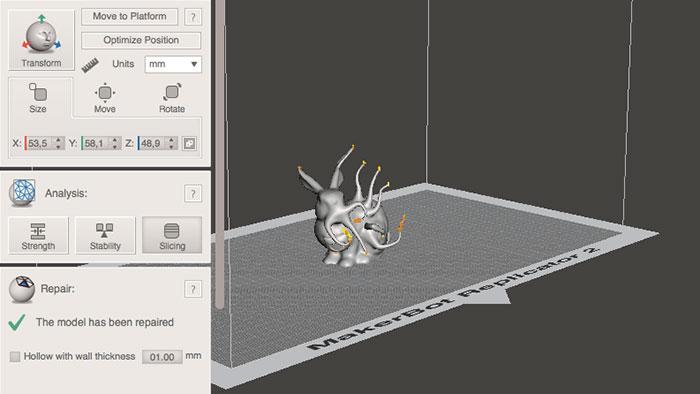meshmixer 3D Printing Repair