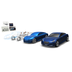 CAD Car with Connex Multi-Material 3D Printer - 3D Printing Industry