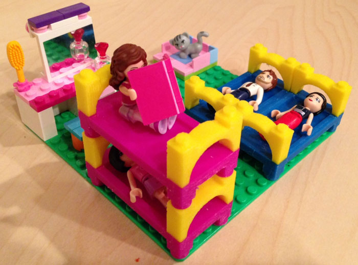 3D Printing Lego Bunk Bed