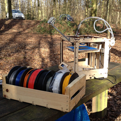 fabmob in forest 3d printing
