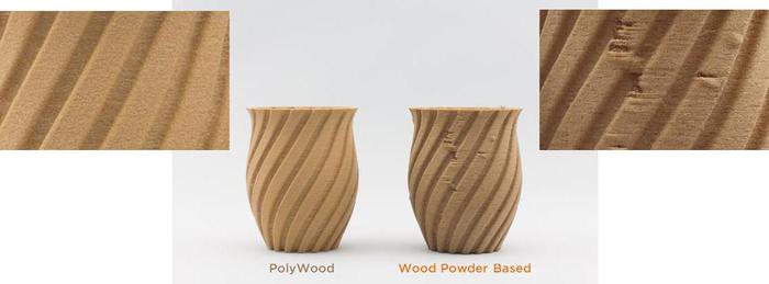 polywood 3d printing filament