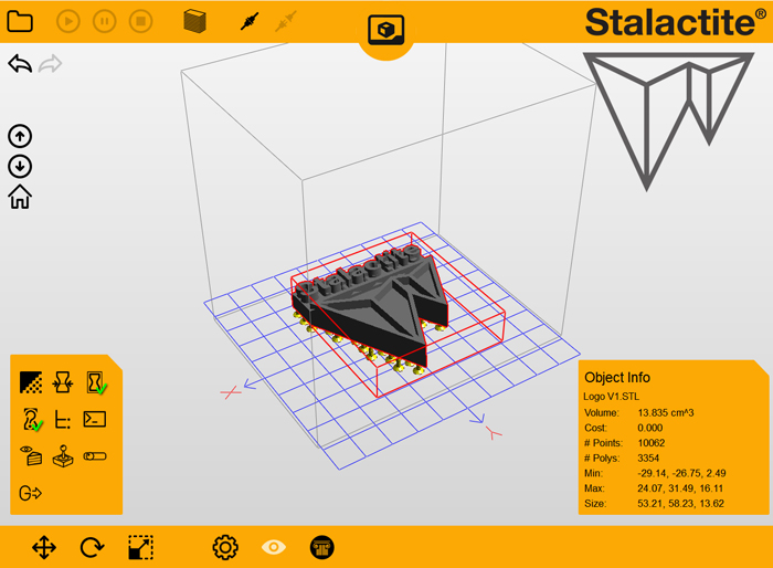 Stalactite 102 DLP 3D Printer Software