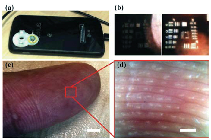 3D printed smartphone microscope with droplet lens