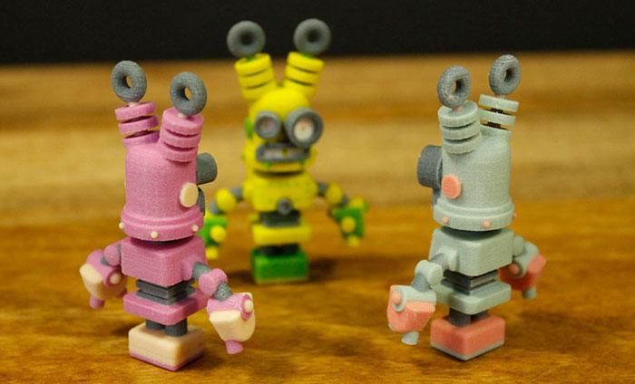 3d printing thinker thing robots