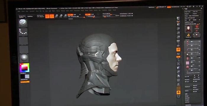 actor scan robocop 3d scanning