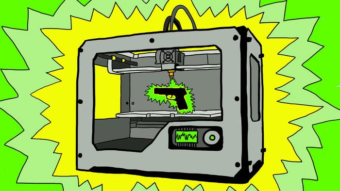 power print 3d printing gun