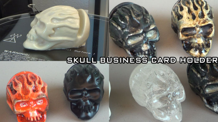 skull business card holder 3d printing