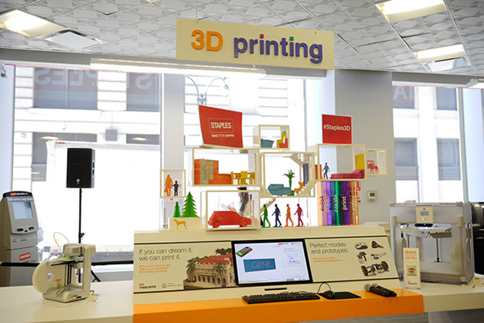 Staples Launches Pilot 3D Printing Experience Center