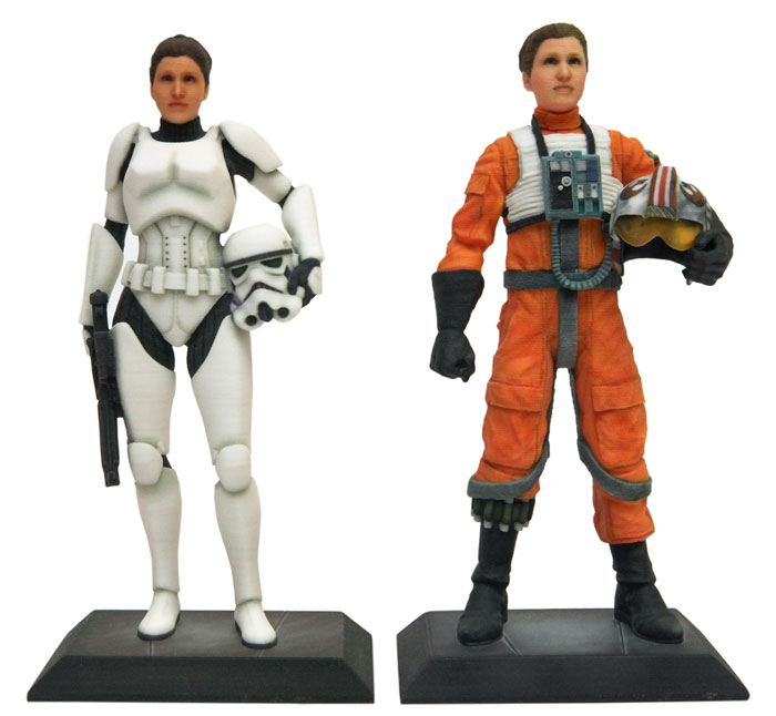 photograph about 3d Printable Figures named Disney/Star Wars 3D Published Collectible figurines Are Back again! - 3D