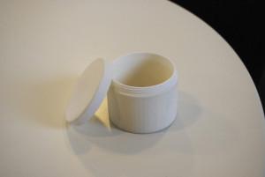 3D printed jar with cap blueprinter