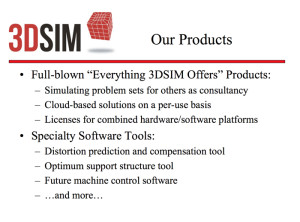 3DSIM 3d printing Products