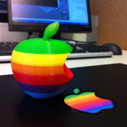 3d printed apple logo
