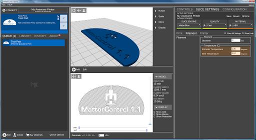 MatterControl 3d printing