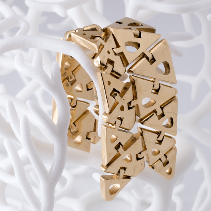 Nervous System 3D Printed Gold Kinematics Swatch 2