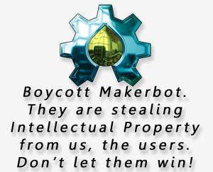boycott makerbot 3d printing
