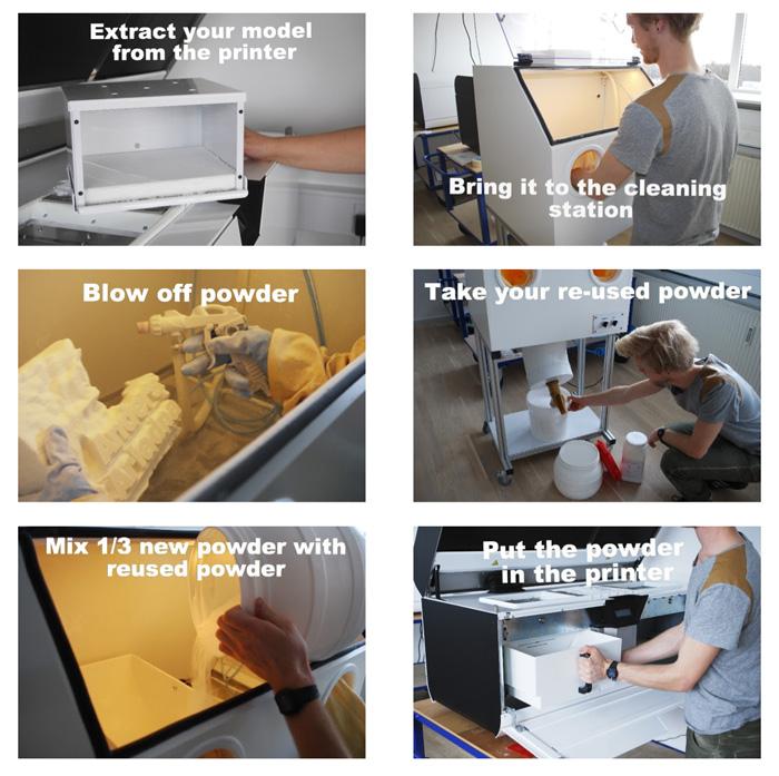 cleaning a blueprinter 3d print