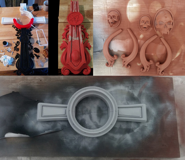 making the 3D printed unholy cross
