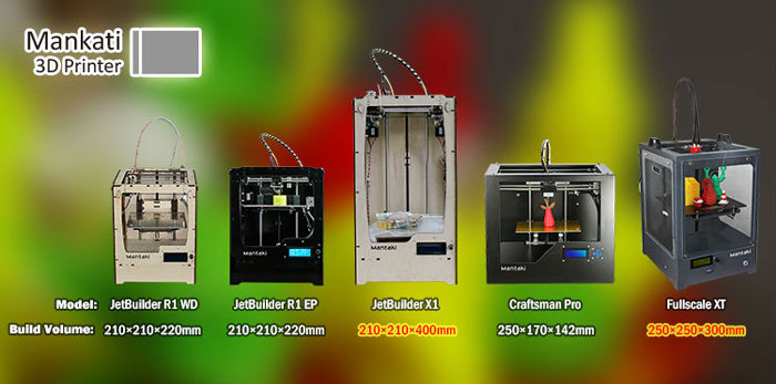mankati line up 3d printer