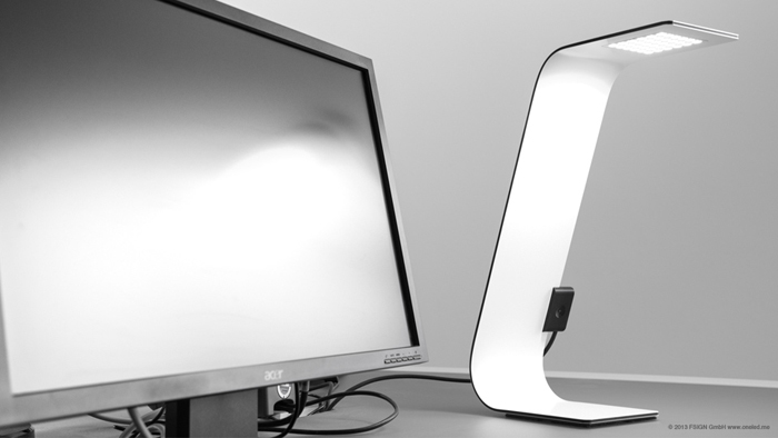 oneLED table luminaire uses LUXeXcel 3D Printed Lens