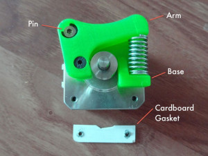 quick release extruder 3d printing