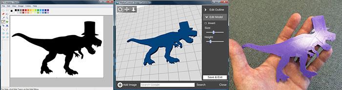 t-rex MatterControl 3d printing