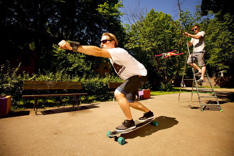 3D printed AirDog auto follow drone skateboard