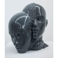 3D printed face sculptures Unidentified Fabulous Objects