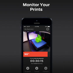 3d printing makerbot mobile monitor prints