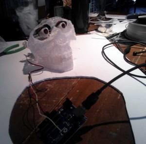 3doodle animatronic skull 3d printing