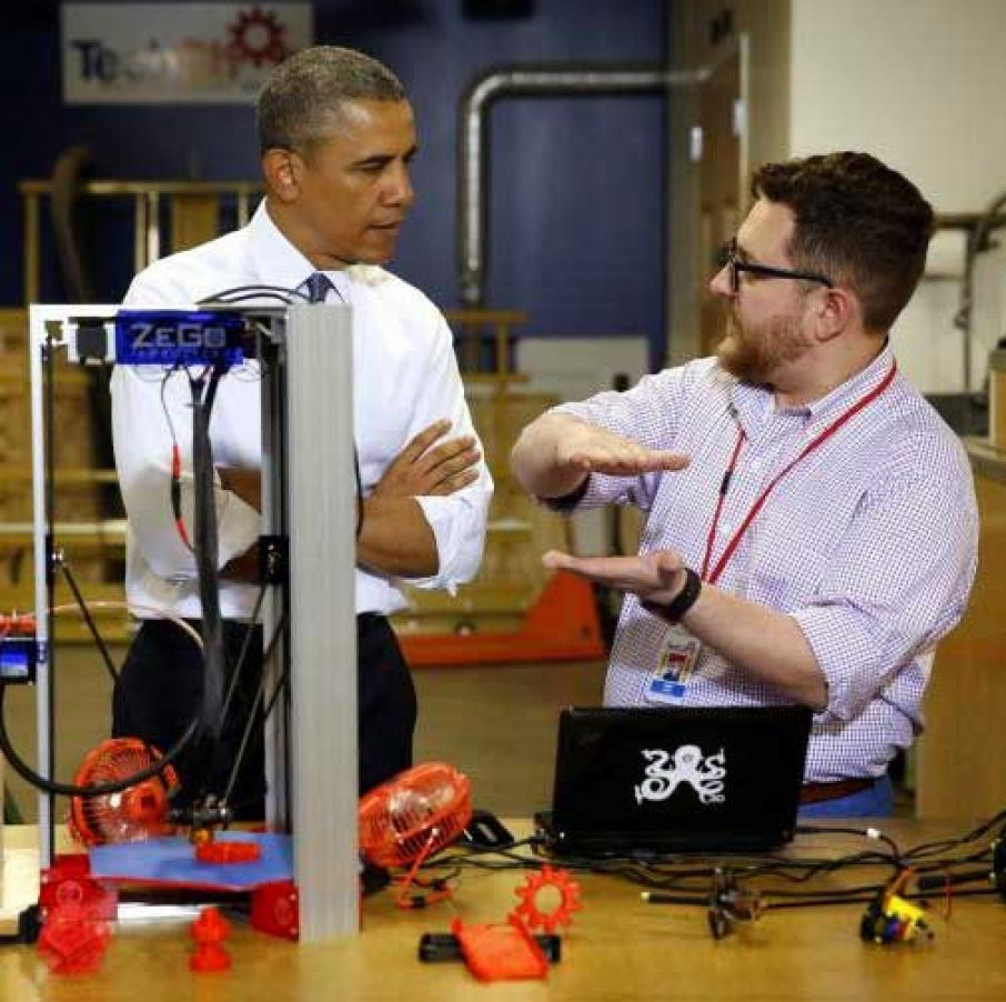 Obama TechShop 3D Printer ZeGo