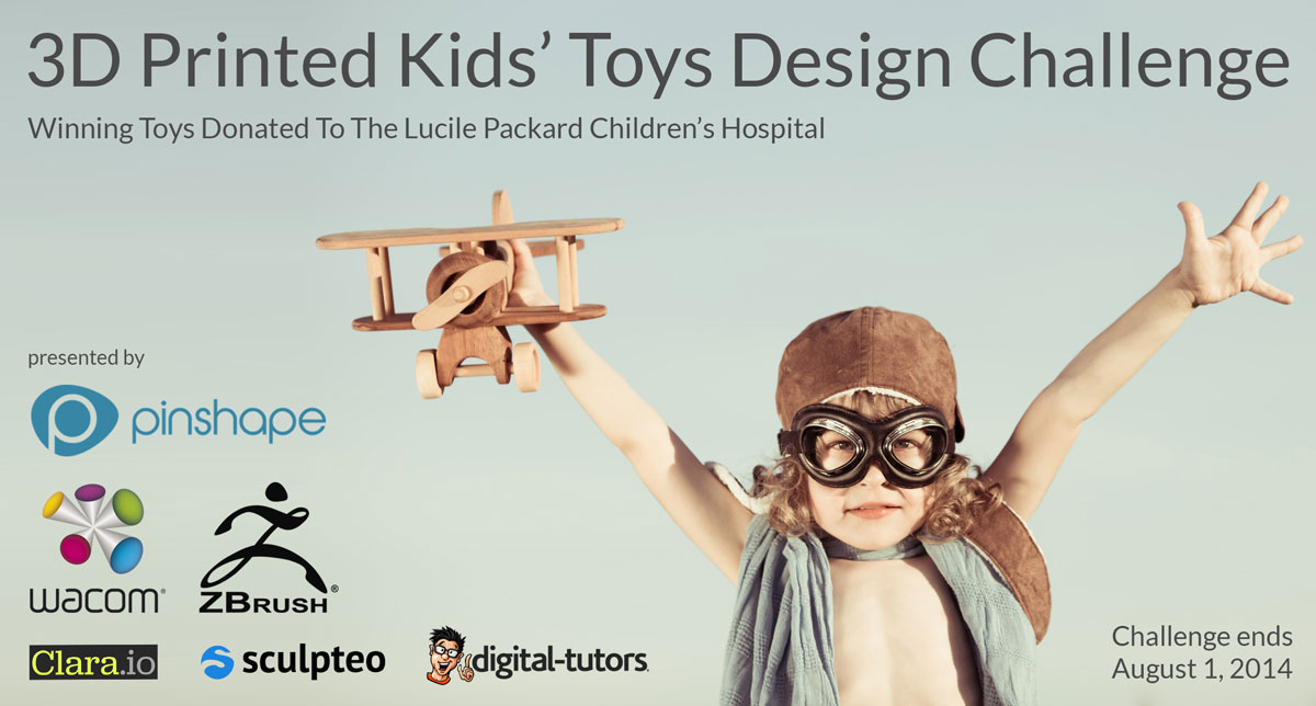 Pinshape Amazon 3D Printing Kids Toys Challenge