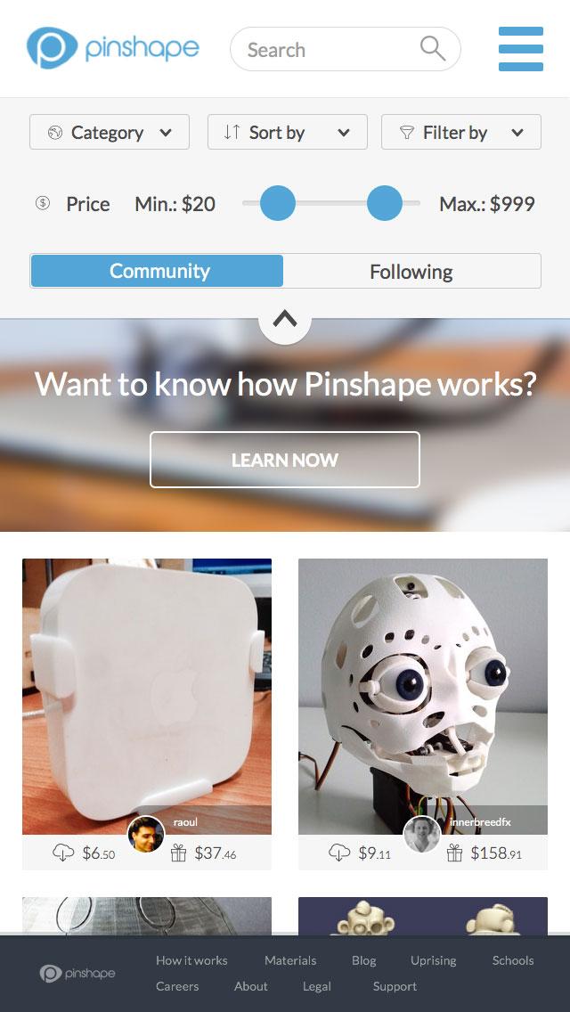iPhone Pinshape 3D Printing